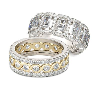 womens wedding bands - Engagement Ring And Wedding Ring